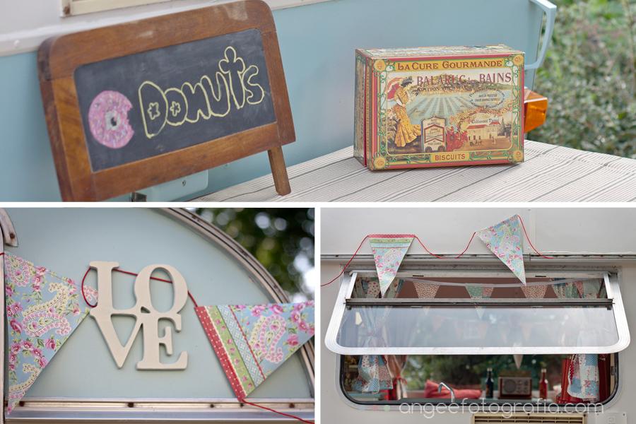 donuts recena boda vintage