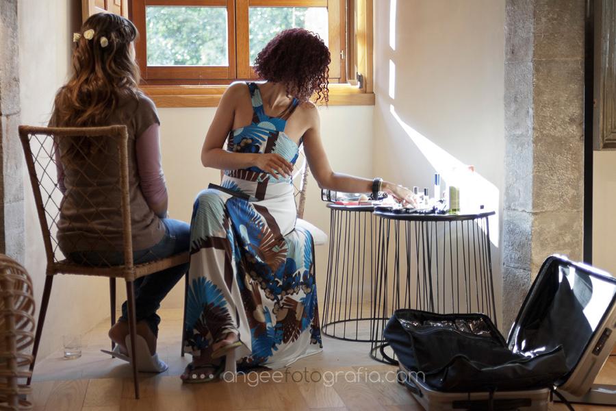 maquilladora de la novia en monasterio