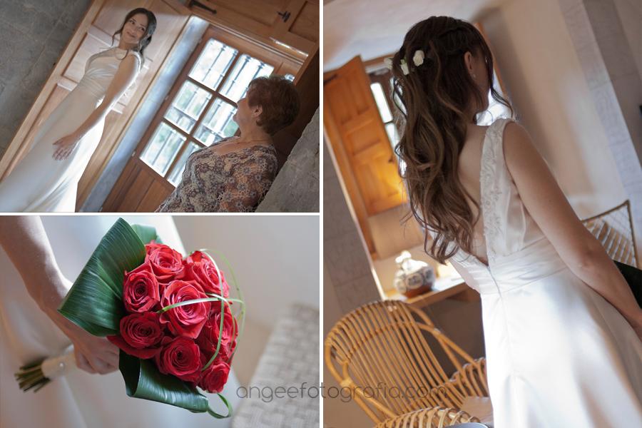 preparativos de novia en monasterio de corias