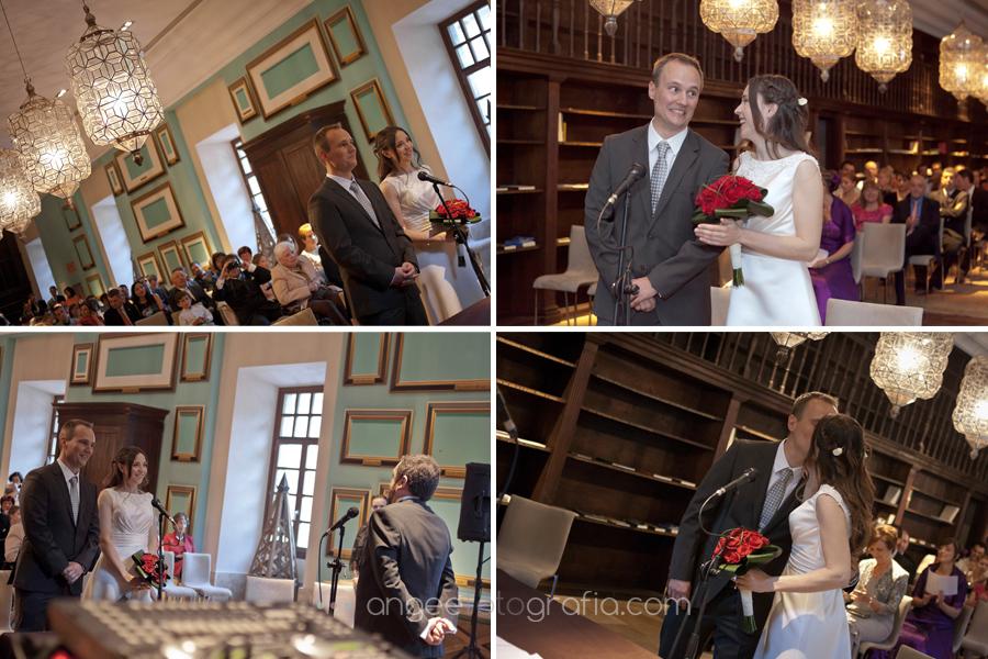 ceremonia de boda en parador de corias