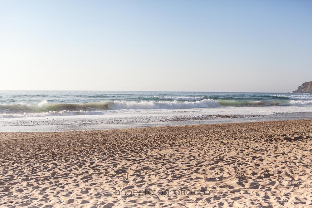 Playa de Xago en la comunión de Irene
