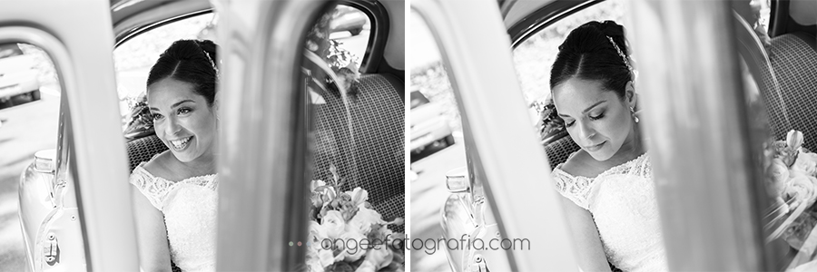Llegada de la novia a la ceremónia