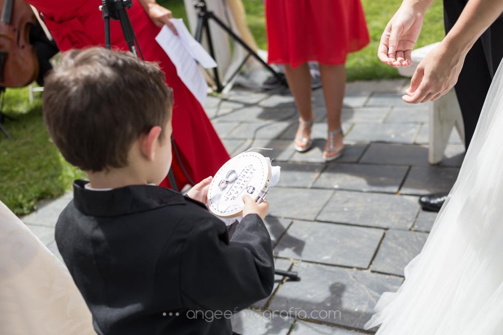 Alianzadas de la boda de Jessica y Christian