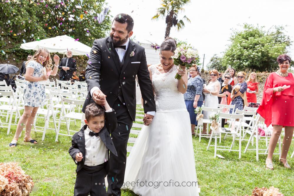 Boda de Jessica y Christian, final c¡de la ceremonia por Ángela Gonzalez Fotografía