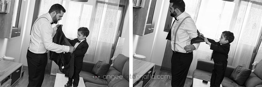 Novio vistiendose, boda de J&C por Angela Gonzalez Fotografía