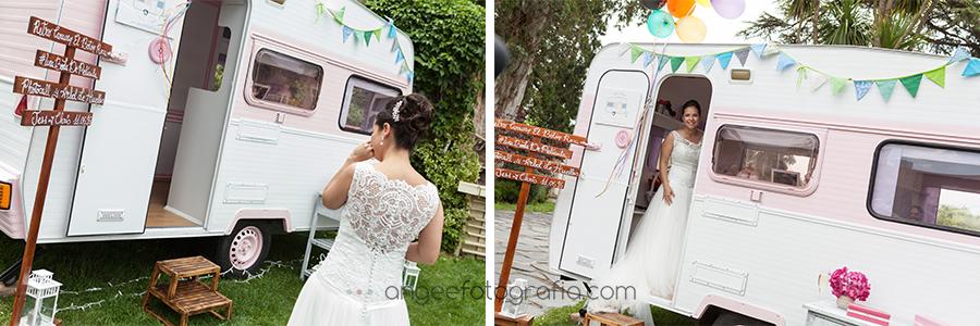 boda de Jessica y Christian conRetro Caravan el boton rosa