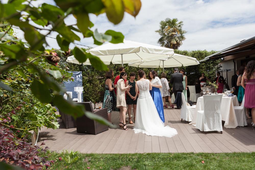 Cóctel en la boda de Jessica y Christian el el restaurante De Labra