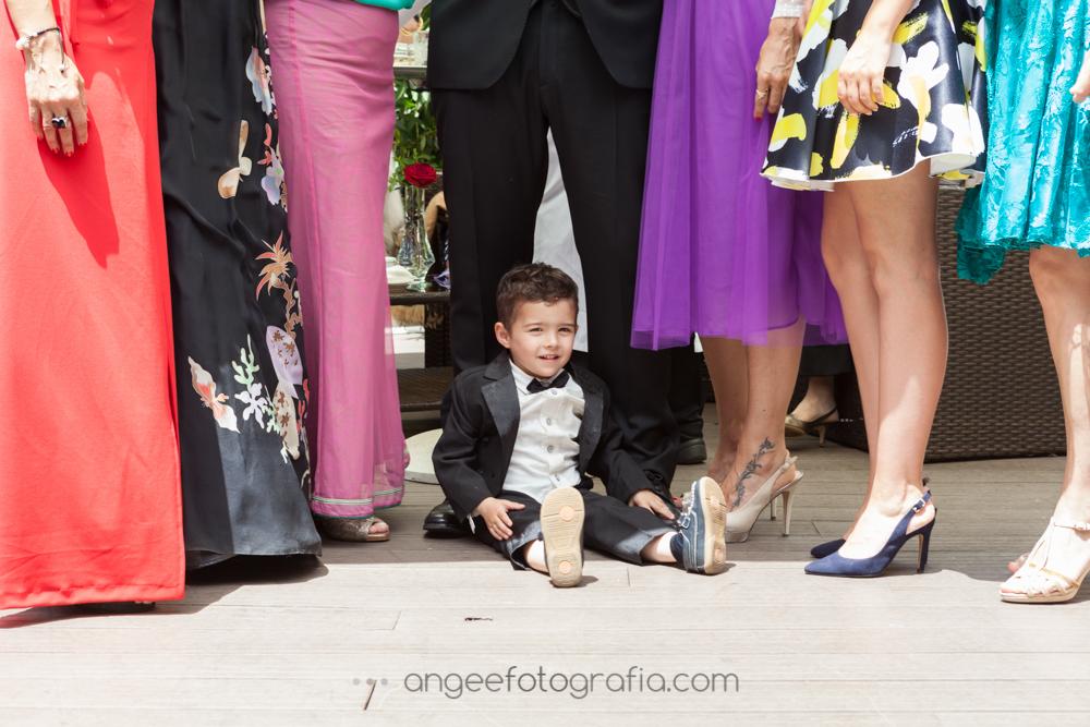 Fotos de grupo en el Cóctel de la boda de Jessica y Christian
