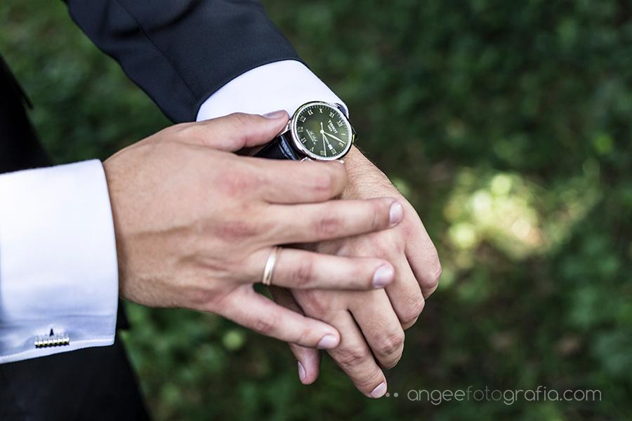 Reloj del novio Fotos en exterior Asturias