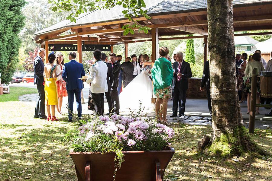 Cóctel en la boda de Raquel y Jorge en Los Olivos Navia