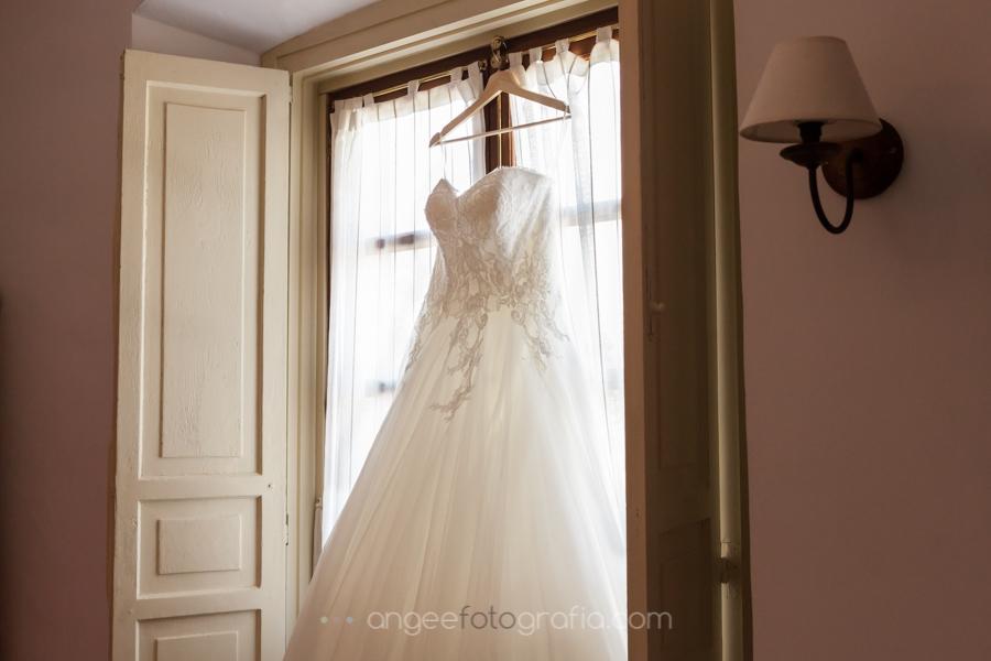Vestido de novia, Boda Consuelo y David. Preparación de la novia.
