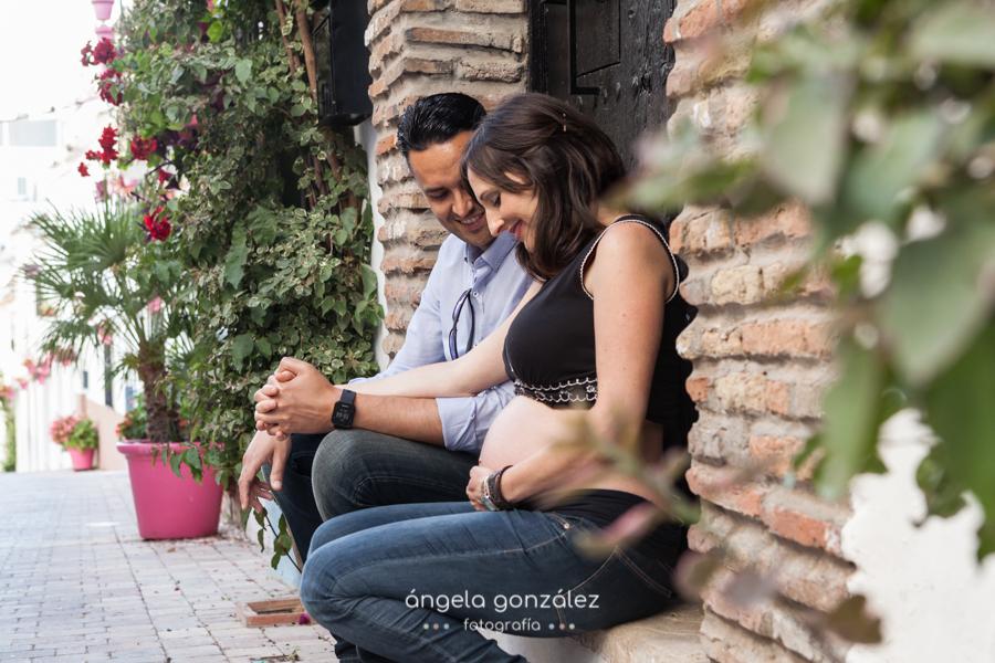 Reportaje de embarazo en las calles de Estepona