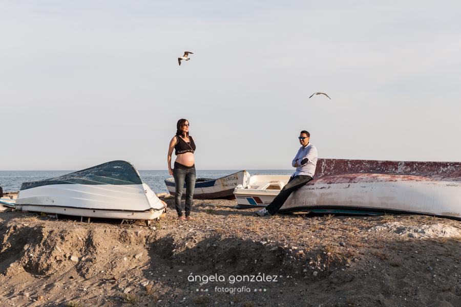 playa de Estepona sesión de embarazada