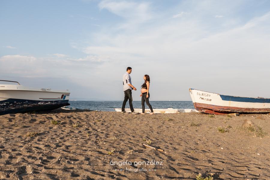Sesión de embarazo, Playa de Estepona