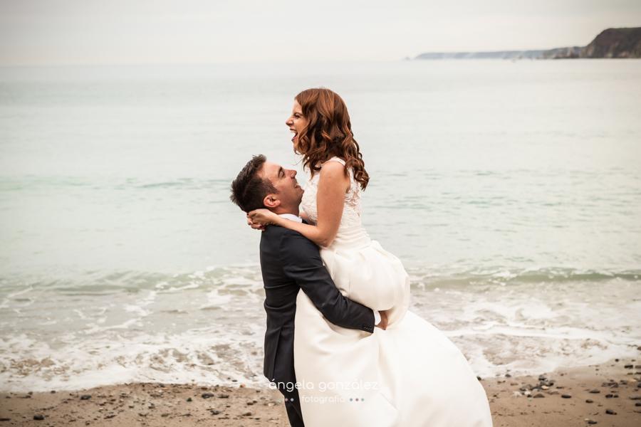 Fotos de post boda en la playa, Asturias
