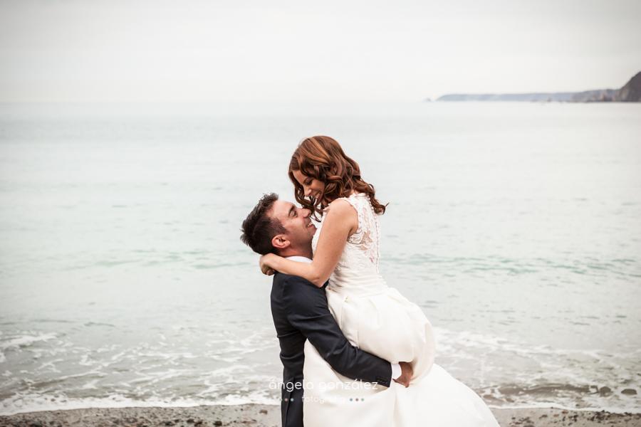 Reportaje de post boda enla playa