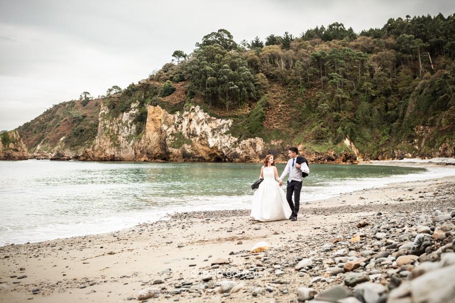 Reportaje de Post boda en una playa de Asturias