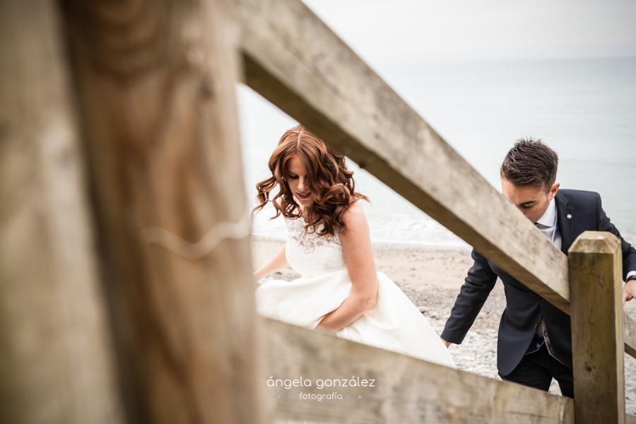 Fotgrafia natural en la playa de Cadavedo, porst boda
