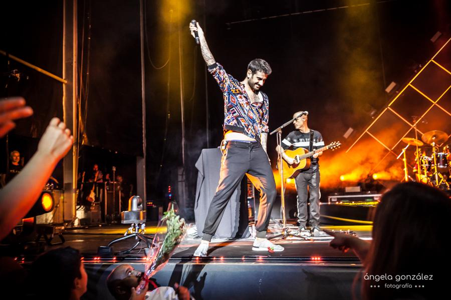 Foto de Melendi en el concierto de Marbella
