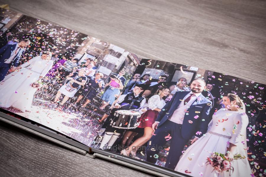 Maquetación álbum de boda de Angela Gonzalez Fotografía, bodas en Asturias, Bodas en Oviedo