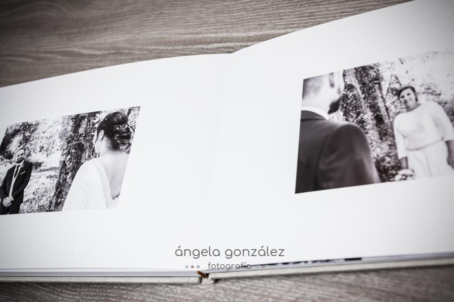 Maquetación álbum de boda en Asturias por Angela Gonzalez Fotografía