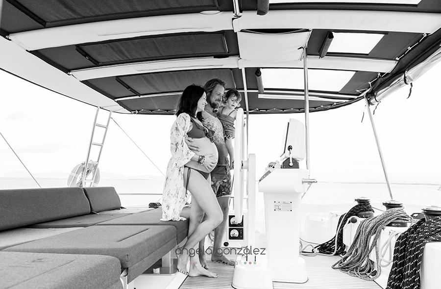 Reportaje de familia, Fotos de embarazo, Formentera, sesión de familia