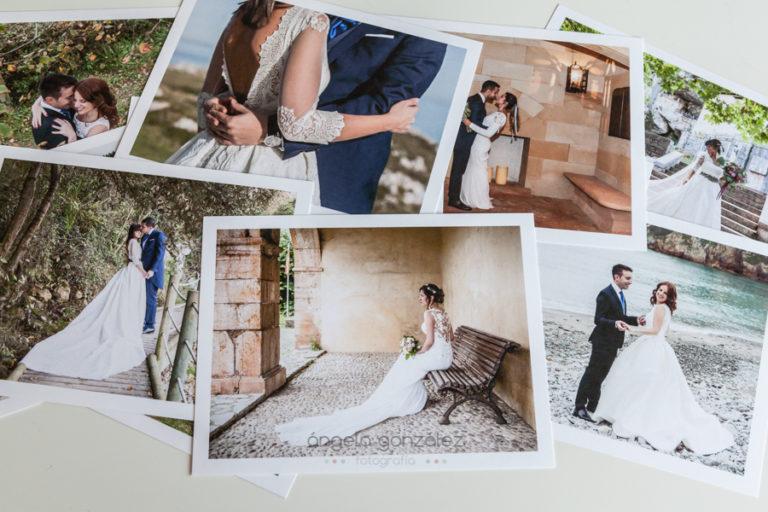 Bodas 2018, caja de fotos papel algodon