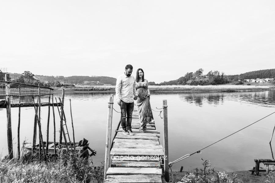 Fotografia de embarazo en asturias, Angela Gonzalez Fotografía bw