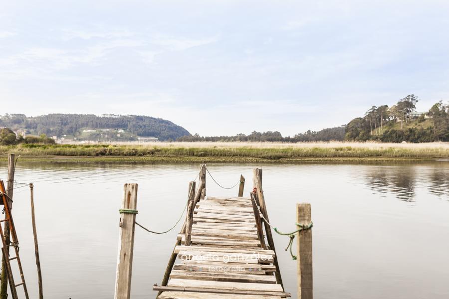 fotos en asturias, embarazada embarcadero madera