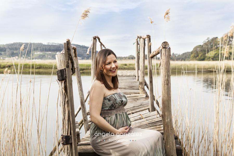 Sesión de embarazada en exteriores, asturias retrato belen