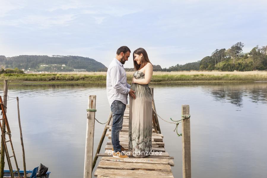 Fotos embarazada en asturias, Angela González fotografía b y n