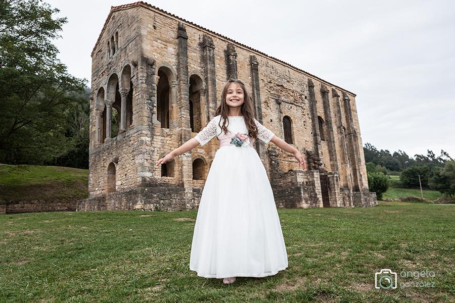 reportaje de comunión en Santa María del Naranco